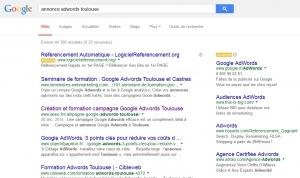 Page de résultat de recherche Google