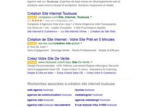 changement affiche adwords serp google